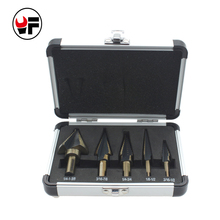 5pcs step cone drill set of drill bits for metal toolbox Hole Cutters power cones HSS high speed steel multiple ferramentasDZ129(China)