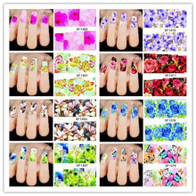 New 50pcs/Lot Fashion French Design Water Transfer Tips Nail Art Decorations Nail Sticker Manicure Nail Decal Nail Tools