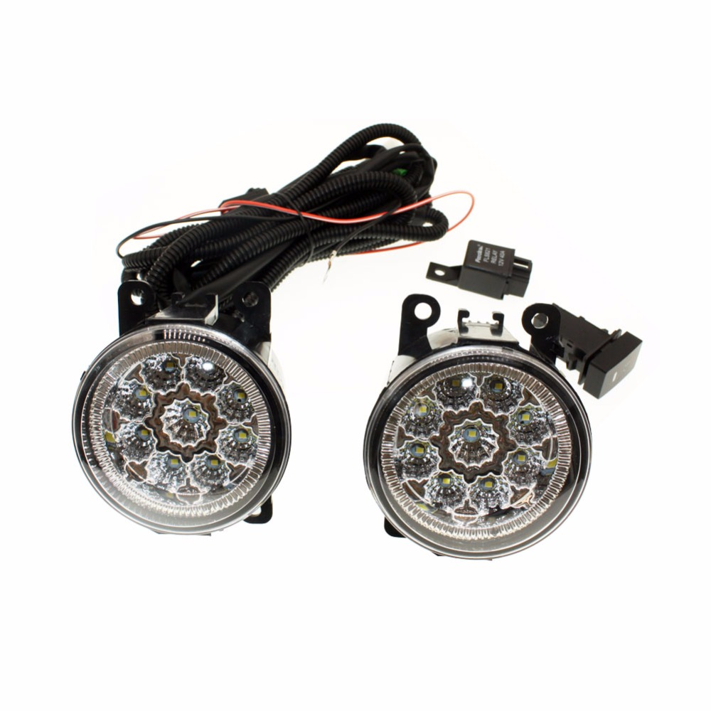 For Lincoln LS 2005-2006  H11 Wiring Harness Sockets Wire Connector Switch + 2 Fog Lights DRL Front Bumper LED Lamp <br>