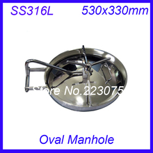 530x330mm SS316L Stainless Steel Oval Manhole Cover Manway tank door way(China)