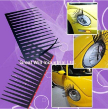 200 Pairs Black Car Eyelashes Car Docration Automobiles & Motorcyclea Exterior Accessories Eyelash Stickers Size 31x17cm