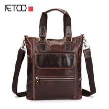AETOO Shoulder bag leather leisure handbag head layer of leather oil wax men messenger bag Korean version of the tide men bag