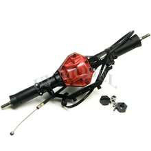 SCX10 Rear Axle With 4WD Lock High Quality Alloy Rear Axle Red For 1:10 Scale RC Crawler AXIAL SCX10 CC01 F350 RC4WD(China)