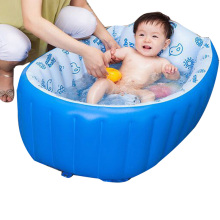 3Colors Folding Inflatable Baby Bath Tub Portable Child tubCushion Safety Protection baby Bath Small Plastic Baby Swimming Pool(China)