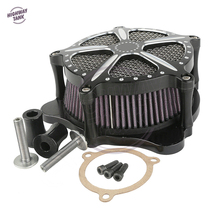 Black Deep Edge Contrast Cut Motorcycle Speed 5 Air Cleaner Filter case for Harley Touring FLHR FLHT FLHX 2014 2015 2016