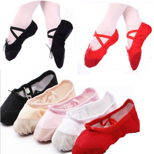 Ballet Dance Dancing Shoes Pointe For Children Kids Girls Women Soft Flats Shoes Comfortable Fitness Breathable Slippers(China)