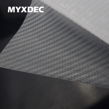 127*30CM 3D Pellucid Carbon Fiber Vinyl Sticker Car Wrapping Foil Carbon Fiber Transparent Car Decoration Sticker Car Styling(China)