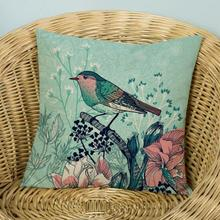 American Style Village Flowers And Birds Printing Soft Short Plush Decorative Pillow Home Sofa Chair Nordic Cushion