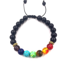 Buy GVUSMIL Yoga 7 Chakras Bracelets Women 2017 Sparkling Crystal Four Colors Healing Balance Beads Nature Stone Bracelets for $1.27 in AliExpress store