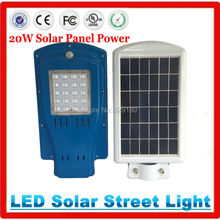 NEW Super bright 20W solar panel power 20W LED street lamp 1600LM Outdoor waterproof path light Ray+Time control