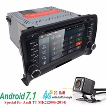 Best Android 7.1 car stereo head unit for Audi TT 2GB RAM car radio GPS player HD BT multimedia system for Audi TT MK2(2006-2014(China)