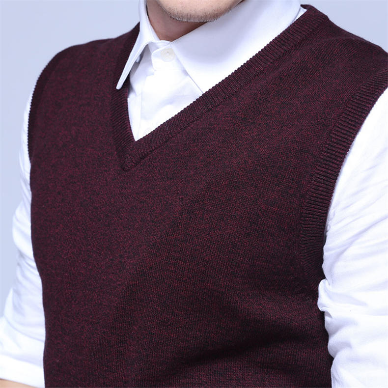 Men Sweater Vest MuLS Brand Winter Colored Wool Knitted Sleeveless Sweater Male Cotton Jumper Autumn Spring 2018 New Size M-3XL-03