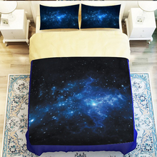 Hipster Galaxy 3D Bedding Set Universe Outer Space Themed Galaxy Print Bedlinen Duvet cover pillow case Twin queen king size