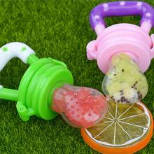 Silcone Baby Pacifier Fresh Food Feeder Dummy Fruits Nibbler Soother Feeding Nipple Bottle Clip Chain