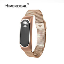Buy HIPERDEAL Fashion Lightweight Stainless Steel Smart Wrist Watch Strap Xiaomi Miband 2 Gold HighQuality Smart Watch Oct10 for $6.87 in AliExpress store