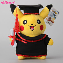 "2016 New  Pikachu Cosplay Stuffed Dolls Cute Rilakkuma Graduate Fitting Gift Plush Toys 11"" 27CM"