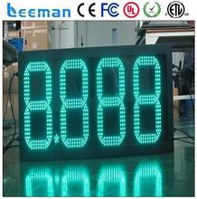 leeman 10inch Outdoor waterproof 12 inch 7 segment led display gas station price signs indoor led display xxx video screen p8