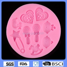 DIY 3D Silicone mold cartoon characters bulk love chocolate fondant cake decorating mold baby CD-F157(China)
