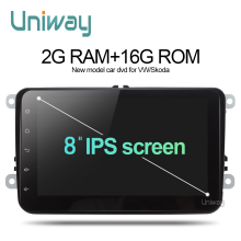 Uniway 2G+16G 2 din android car dvd for vw passat b5 b6 golf 4 5 tiguan polo octavia rapid fabia car multimedia player(China)