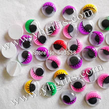 100PCS/LOT,15mm 5 colorful eyelash eyeball stickers,Plastic wiggle eyes,Doll eyes.Doll Accessories.Crafts material.onstock,OEM