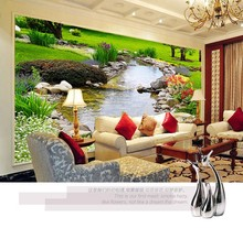 Photo wallpaper Nature Park creek murals bedroom living room sofa TV background wall paper Home decoration