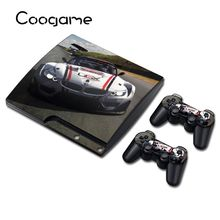 5 Style Car Vinyl Skin Sticker For Sony PS3 Slim Console Waterproof Protector Case For Play station 3Slim Controller Decal