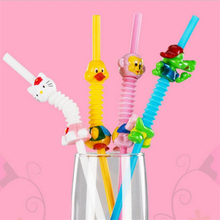 Cartoon Straw Children's Creative Cartoon Cute Fun Wacky Straw Toys Household Items Drinkware Birthday Party Supplies