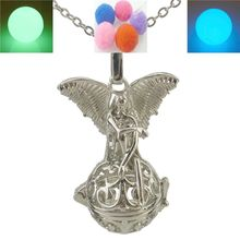 Glow Beads Angel Elf Locket Necklace Cage For Fragrance Essential Oil Aromatherapy Diffuser Glow in the dark
