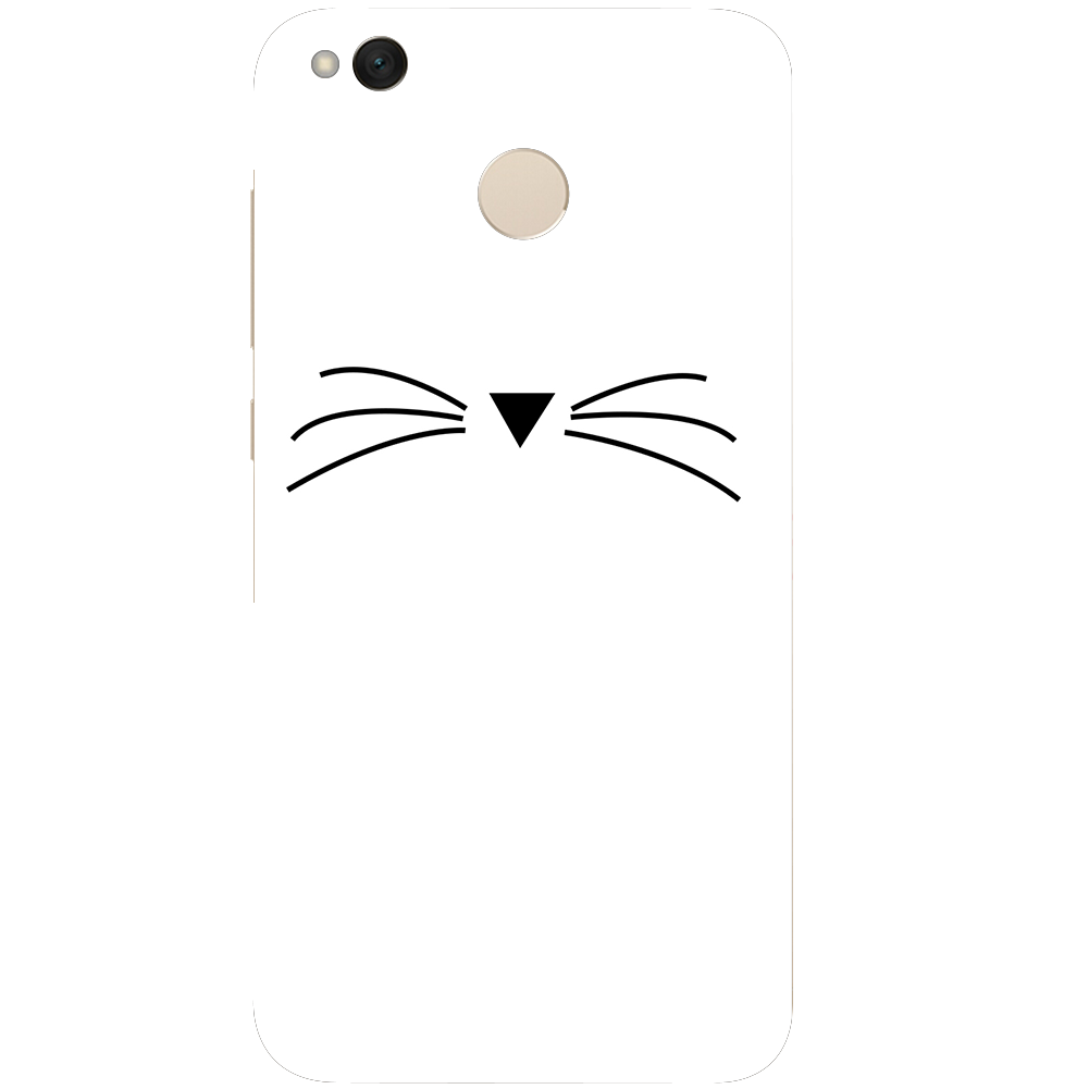 Beard Cat Phone Case For Xiaomi Redmi 3 3S 4A 4X 4 4S Note 3 Note 4 Note 4X Case Back cover