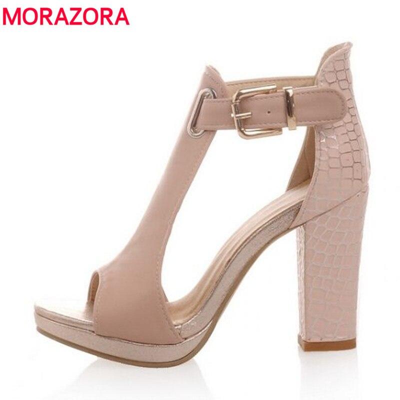New 2017 women sandals summer high heels sexy open toe platform wedding shoes woman pink white blue<br><br>Aliexpress