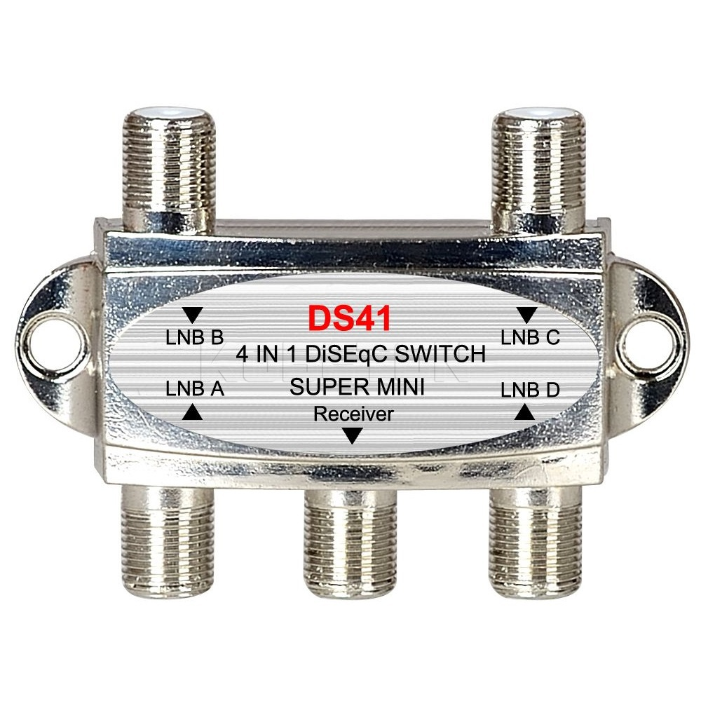 High quality DiSEqC Switch 4x1 DiSEqC Switch satellite antenna flat LNB Switch for TV Receiver(China)