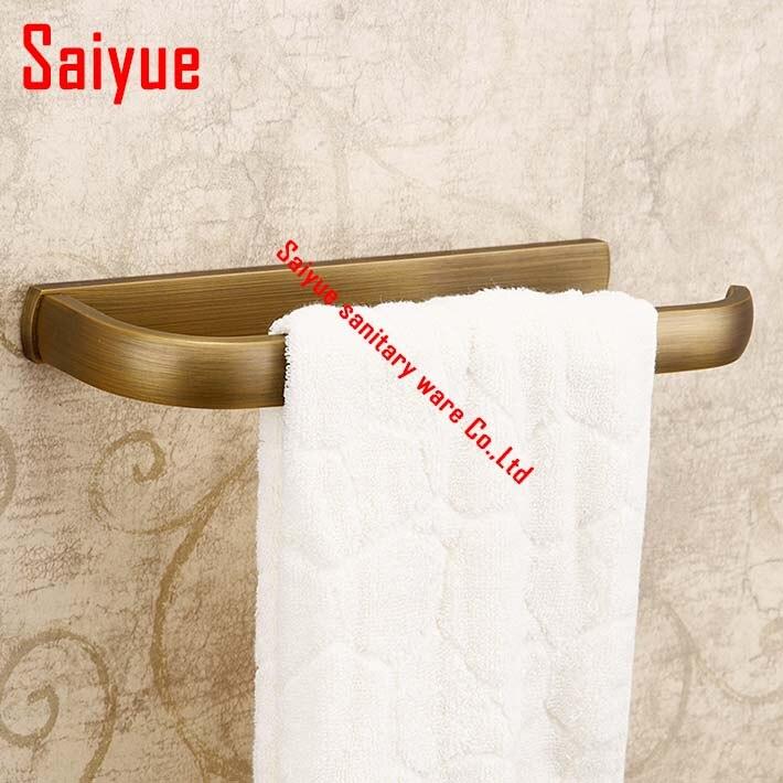 Antique Wall Mounted Towel Rack Holder Solid Brass  Towel Ring rod  Holder Towel Hanger single bar<br>
