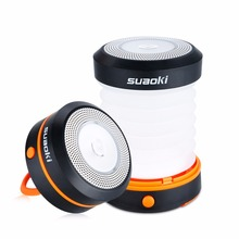 Suaoki Outdoor Camping LED Lantern Collapsible Light Mini Flashlight Torch Light Water Resistant Lantern Powered by 3*AA Battery(China)
