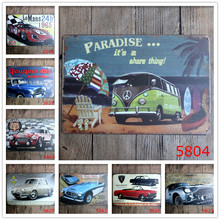 [ Mike86 ] Paradise It Is Share Thing Bus Vw Tin Sign Wall Poster Decor Gift Metal Painting Art Aa-804 Mix Order 20*30 Cm
