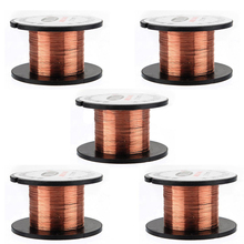 5pcs/set Copper Soldering Wire 0.1mm PPA Enamelled Welding Wire Reel Roll For Repair Tool