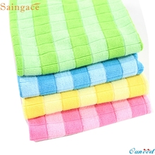 Saingace 4PCs Soft Cotton Car Cloth Towel House Cleaning Practical Kitchen Cleaning Wiping Cloth Gifts High Quality