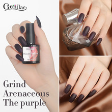 Genilac 10ml1pcs Nail Gel Polish Matt Top Coat UV Nail Polish Soak Off Long-lasting Painting Gel Polish Need UV Lamp(China)