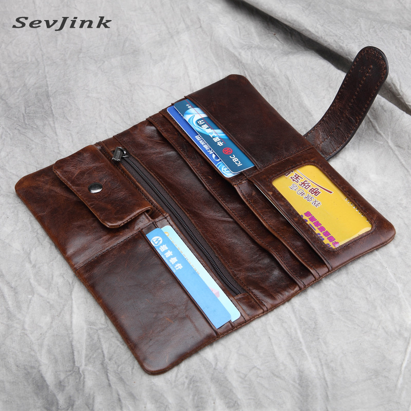 100% TOP fashion cow genuine luxury leather men wallets high quality men purse vintage designer male carteira free shipping<br>