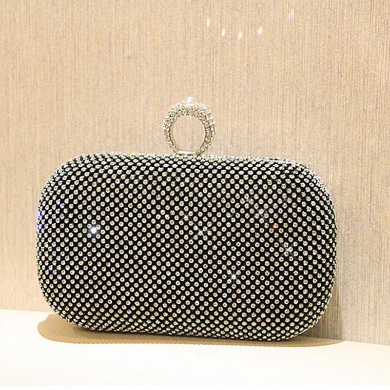 Hot selling finger ring diamonds clutch purse evening bags mixed color rhinestones evening bag small handbags/tote/wallet XA964B<br><br>Aliexpress