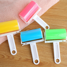 1pc Portable Washable Anti-Static Clothes Dust Removal Sticky Hair Tumble Lint Rollers for Wool Clothing Bedding with Cover(China)