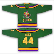 #44 Fulton Reed Mighty Ducks Movie Jersey Green Stitched Sewn Throwback Fulton Reed Ice Hockey Jerseys S-XXXL Free Shipping