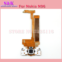 (10 pcs/lot) Free shipping New flex cable for nokia N96 flex cable ribbon with real camera Repair parts