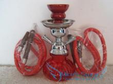 Free shipping 1pcs (23cm)9'' 2 Hose Hookah Complete Set Hookah shisha Water Pipe Black/Blue/Red/Green With retail package(China)