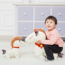 35-95CM Large size toys Cartoon horse plush toys baby pillow Soft cushion stuffed plush horse doll kids toys birthday gift