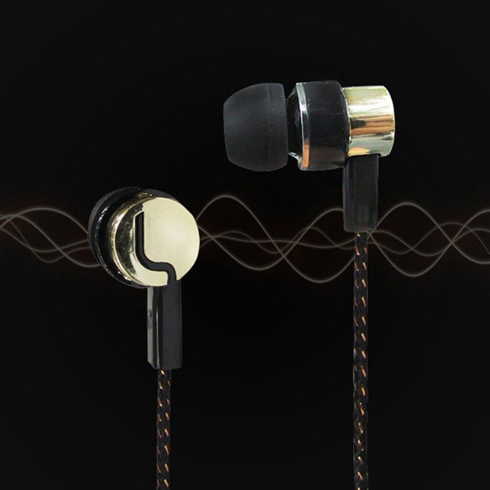 2018 Hot Earphone Braided Wiring Super Bass In Ear Music Earphone HIFI Stereo Earbuds Noise Isolating Sport Earphones With Mic