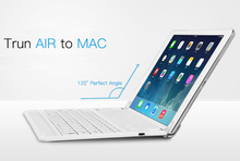 B.O.W Wireless Bluetooth Keyboard with Built-In Stand Groove 120 Degree Rotating For iPad Air Turn Your Pad Into Small Laptop