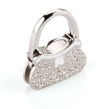 TEXU Metal RhInestone Folding Handbag Purse Table Hook Hanger BAG Holder