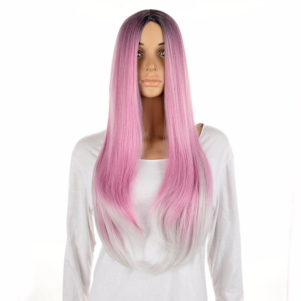 Free Wig Cap 2016 New Long Straight  Hairstyle Amazing Color  Pelucas Synthetic Hair Wig Anime Cosplay Wigs<br><br>Aliexpress