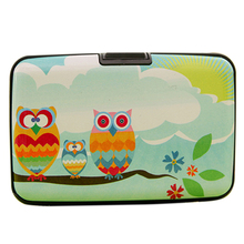 Thin Cute Owl Multilayers Bag Pocket ID Credit Bus Card Wallet Holder Case  BVY5