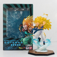 New 16cm Anime Dragon Ball Gotenks Figure Super Saiyan 3 PVC Dragonball DBZ Figure Toy(China)